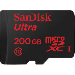 SanDisk 200GB Ultra UHS-I microSDXC Memory Card (Class 10)