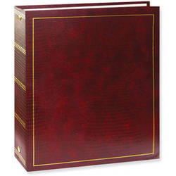 Pioneer Photo Albums LM-100 Promotional 100 Page Magnetic 3-Ring Album (Burgundy)