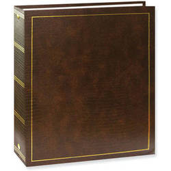 Pioneer Photo Albums LM-100 Promotional 100 Page Magnetic 3-Ring Album (Brown)