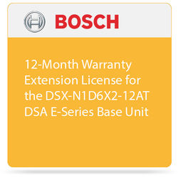 Bosch 12-Month Warranty Extension License for the DSX-N1D6X2-12AT DSA E-Series Expansion Unit