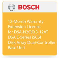 Bosch 12-Month Warranty Extension License for DSA-N2C6X3-12AT DSA E-Series iSCSI Disk Array Dual-Controller Base Unit