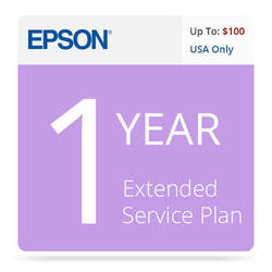 Epson 1-Year U.S. Extended Service Contract for Inkjet Printers up to $100