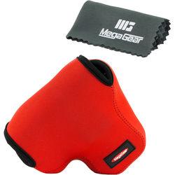 Mega Gear MG455 Ultra Light Neoprene Camera Case for Canon PowerShot SX60 (Red)
