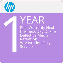 HP 1-Year Post Warranty Next Business Day Onsite Defective Media Retention Workstation Only Service