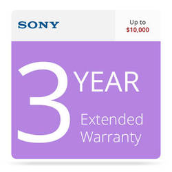 Sony SPSDVR10RSEW3 3-Year Extended Warranty for Professional DVRs Up To $10,000