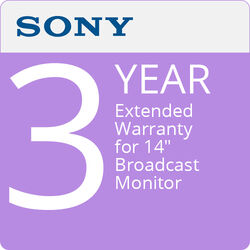"Sony 3-Year Extended Warranty for 14"" Broadcast Monitor"