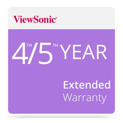 ViewSonic PRJ-EEEW-07-02 4th and 5th Year Extended Projector Warranty
