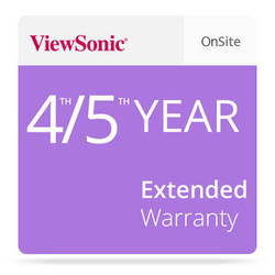 ViewSonic CD-EW-65-02 Extended On-Site Warranty
