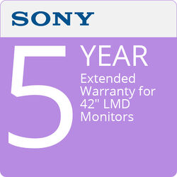 """Sony 5-Year Extended Warranty for 42"""" LMD Monitors"""