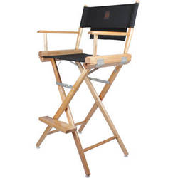 Porta Brace LC-30N/B Director's Chair (Natural Wood Frame with Black Seat)
