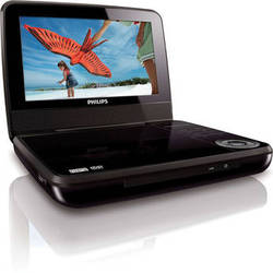 """Philips PET741M 7"""" LCD Portable DVD Player"""