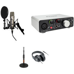Rode NT1-A Recording Studio Kit with USB / iOS Lightning Audio Interface, Desktop Stand, and Headphones