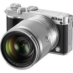 Nikon 1 J5 Mirrorless Digital Camera with 10-100mm Lens (Silver)