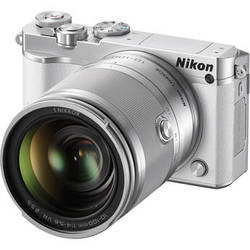 Nikon 1 J5 Mirrorless Digital Camera with 10-100mm Lens (White)