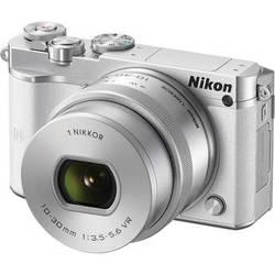 Nikon 1 J5 Mirrorless Digital Camera with 10-30mm Lens (White)