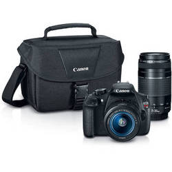 Canon EOS Rebel T5 DSLR Camera with 18-55mm and 75-300mm Lenses Bundle