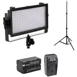 Genaray SpectroLED Essential 240 Bi-Color LED Light with Stand and Accessories