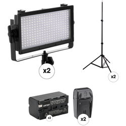 Genaray SpectroLED Essential 240 Bi-Color LED 2-Light Kit with Stands and Accessories