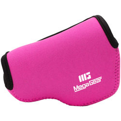 MegaGear MG376 Ultra Light Neoprene Case and Bag for Samsung NX3000 with 20-50mm Lens (Hot Pink)