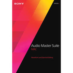 Sony Audio Master Suite Mac 2 Upgrade - Waveform and Spectral Editing Software Bundle for OS X (Download)