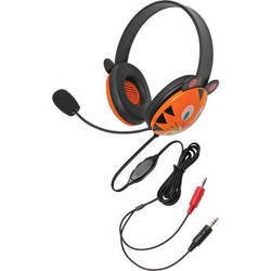 Califone 2810TI-AV Listening First Animal-Themed Stereo Headset (Dual 3.5mm Plug, Tiger)