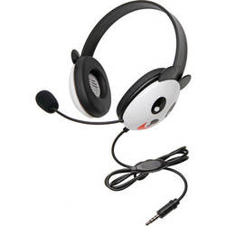 Califone 2810-TPA Listening First Animal-Themed Headset (3.5mm To Go Plug, Panda)