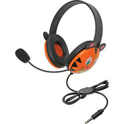 Califone 2810-TTI Listening First Animal-Themed Headset (3.5mm To Go Plug, Tiger)
