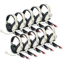 Califone 3066AV-10L Deluxe Multimedia Stereo Headset (Dual 3.5mm Plug, Pack of 10)