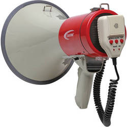Califone PA25RX 25W Handheld Megaphone with Aux Input and Detachable Microphone