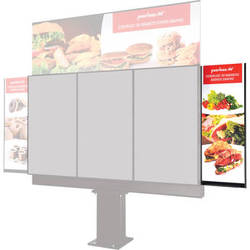 Peerless-AV Right-Hand Sidekick for Outdoor Digital Menu Board Kiosk