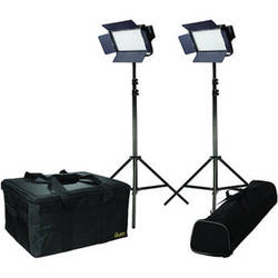 ikan Featherweight Bi-Color LED 2-Point Kit with 2x IFB576 Lights