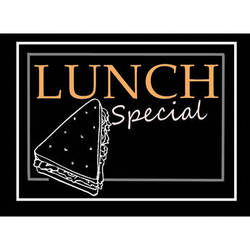 """Porta-Trace / Gagne LED Light Panel with Lunch Special Logo (16 x 18"""")"""