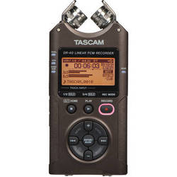 Tascam DR-40 4-Track Handheld Digital Audio Recorder (Bronze)