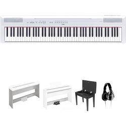 Yamaha P-115 - 88-Key Digital Piano Studio Bundle Kit (White)