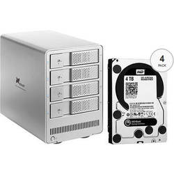 Xcellon DRD-401 16TB (4 x 4TB) Four-Bay HDD Enclosure with Drives