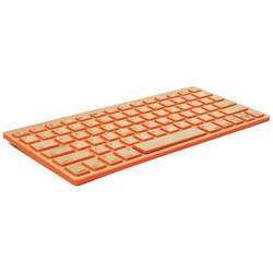 Impecca Bamboo Bluetooth Compact Wireless Keyboard (Orange Citrus)