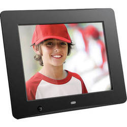 "Aluratek 8"" Digital Photo Frame with Motion Sensor and 4GB Built-In Memory"