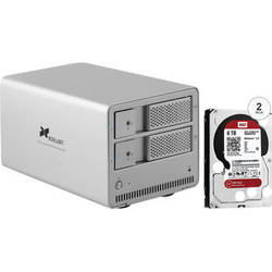 Xcellon DRD-101 12TB (2 x 6TB) Dual-Bay Enclosure Kit with Drives