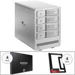 Xcellon DRD-401 4.0TB (4 x 1TB) Four-Bay HDD Enclosure Kit with Samsung Evo SSDs