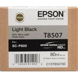 Epson T850700 UltraChrome HD Light Black Ink Cartridge (80 ml)