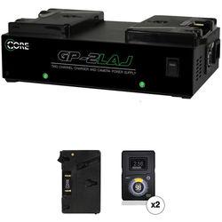 Switronix HyperCore-98AG Gold-Mount 2-Battery Kit for Blackmagic URSA