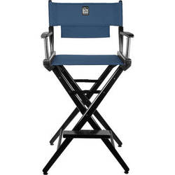 Porta Brace LC-30B Director's Chair (Black Frame with Blue Seat)