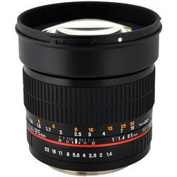 Rokinon 85mm f/1.4 AS IF UMC Lens for Canon EF