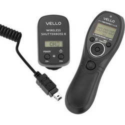 Vello Wireless ShutterBoss II Remote Switch with Digital Timer for Nikon DC2 Cameras