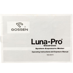 Gossen Luna Pro Instruction Book