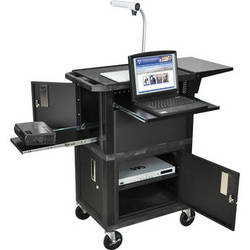 H. Wilson WTPSCE Ultimate Video Presentation Station with 2 Cabinets (Black)