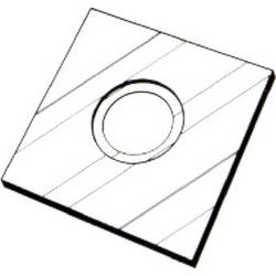 """Delta 1 Bes-Board 2-5/8""""X2-5/8"""" Lens Board with 39mm Hole"""