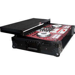 ProX Flight Case For Pioneer DDJ-SX & DDJ-SX2 Controllers with Laptop Shelf and Wheels (Black on Black)