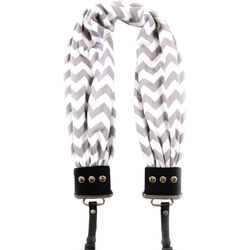 Capturing Couture Chevron Scarf Camera Strap (Gray & White)