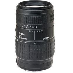 Sigma Zoom Telephoto 70-300mm f/4-5.6 DL Macro Autofocus Lens for Canon EOS